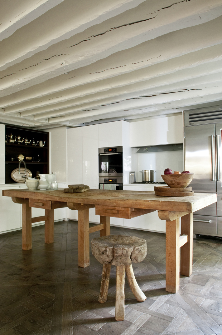 Office ecléctico en cocina contemporánea
