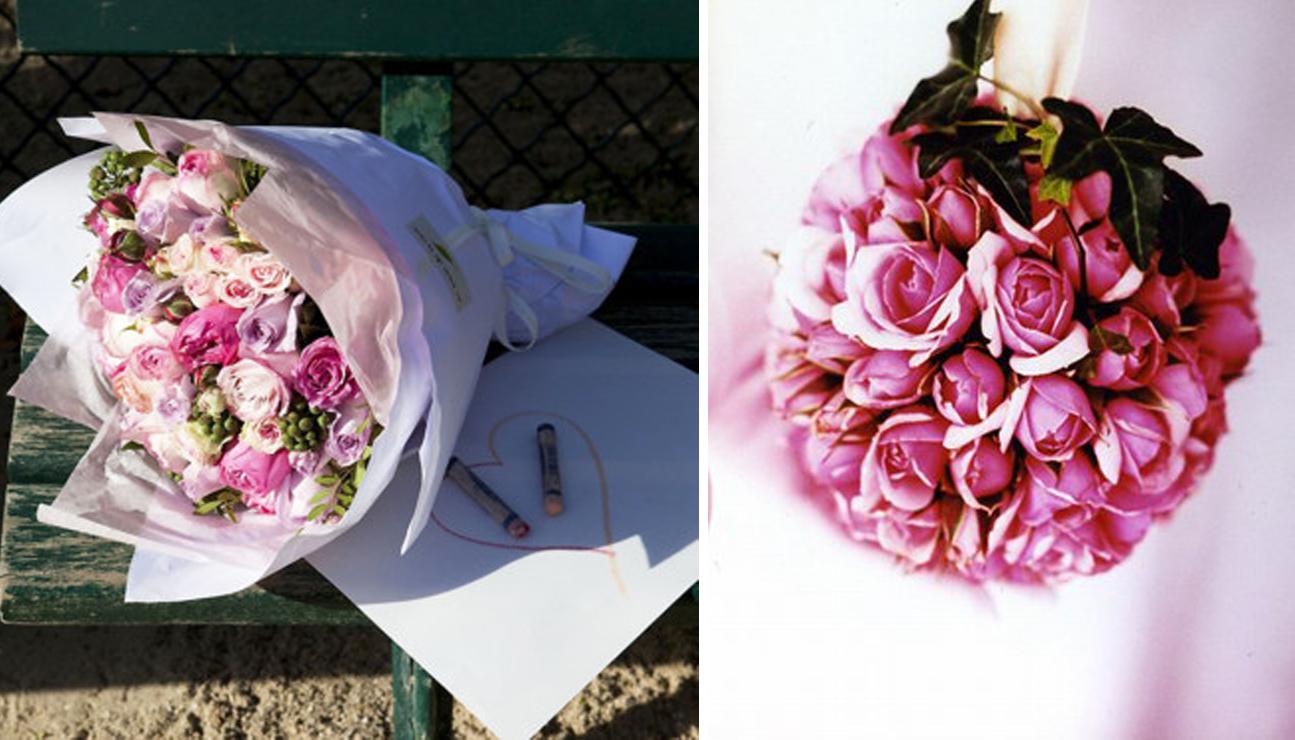 Bouquets rosas de Au Nom de la Rose
