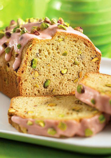 Rose And Pistachio Pound Cake