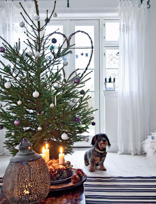 Casa vestida Navidad