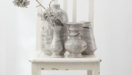 Decorar con papel de periódico
