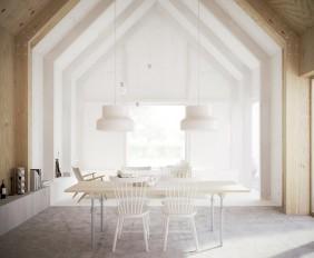 Estilo nórdico: sencilla construcción en Suecia