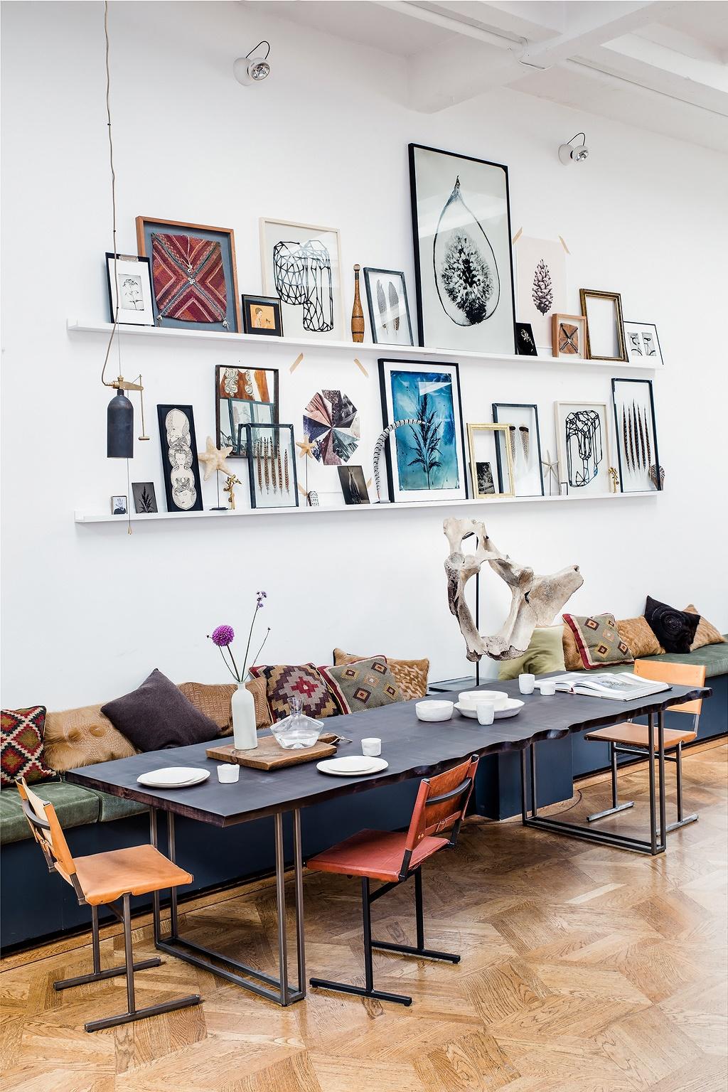 Loft con mucho arte