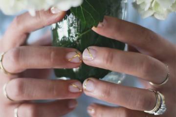 Diy uñas oro