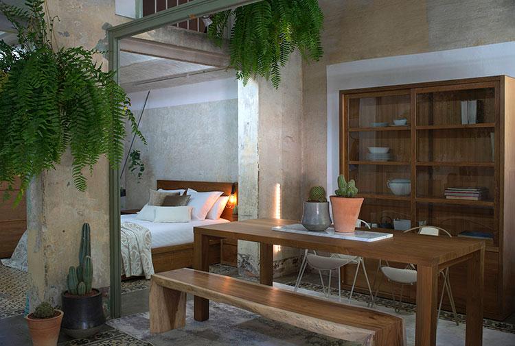 HomeLifeStyle-Magazine-Loft-Botanic-dormitorio-salon